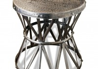 Metal Pedestal Side Table