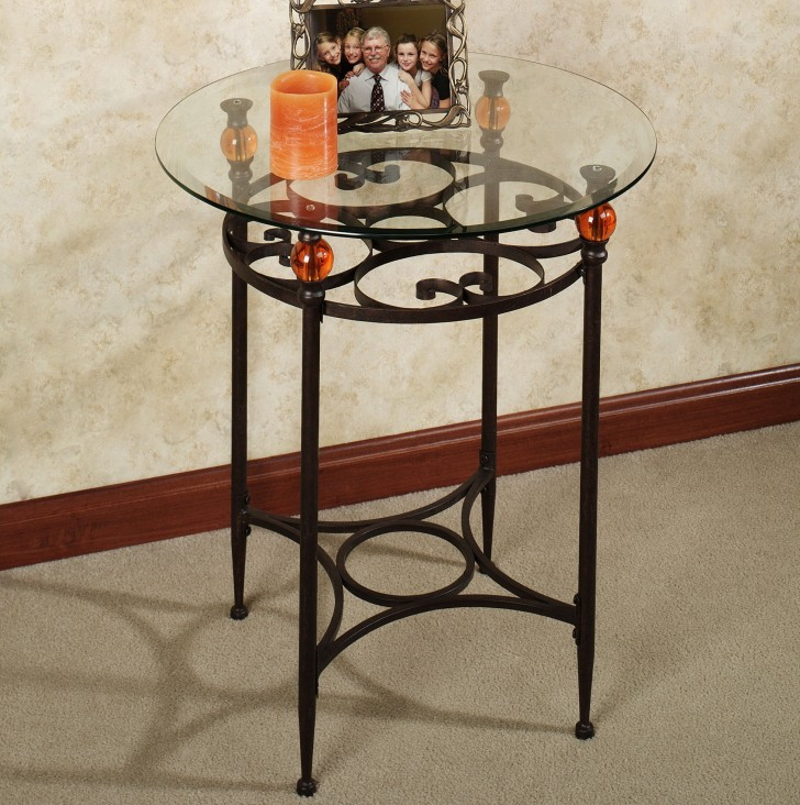 Permalink to Metal Round Accent Table