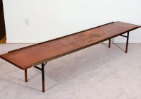 Mid Century Bench With Cushion