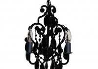 mini black crystal chandelier