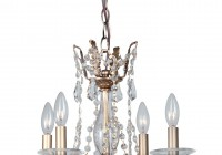 Mini Bronze Crystal Chandelier