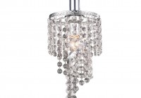 mini pendant chandelier crystal