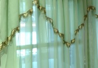 Mint Green Window Curtains