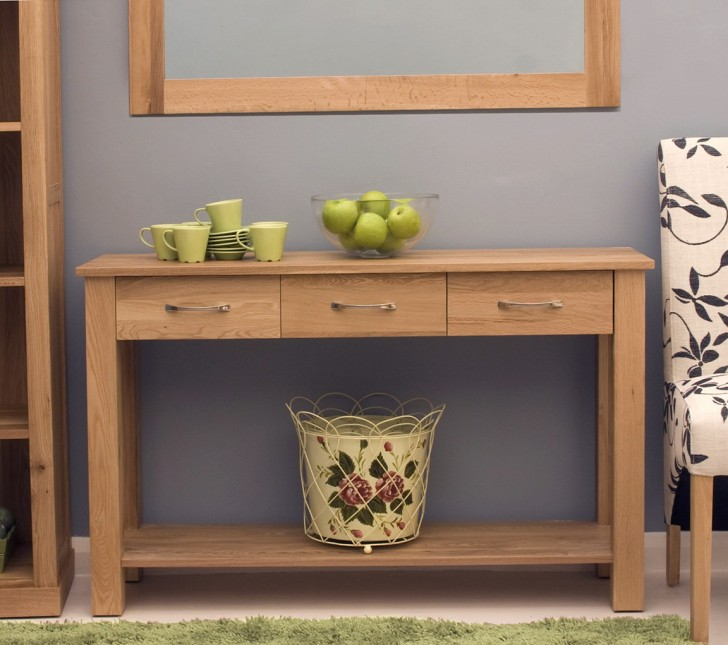 Permalink to Modern Console Table With Drawers