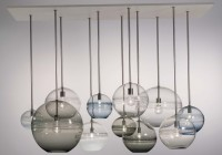 Modern Glass Globe Chandelier