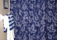 Navy Blue Floral Curtains
