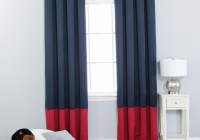 Navy Color Block Curtains