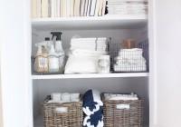 Organize Small Linen Closet