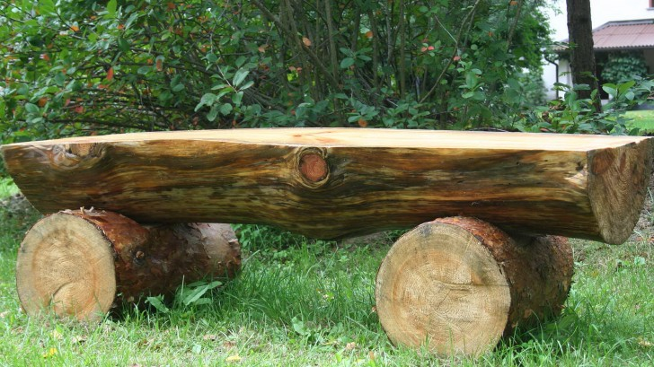 Permalink to Outdoor Log Benches For Sale