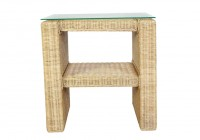 Outdoor Wicker Side Table