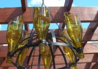 Outdoor Wine Bottle Chandelier
