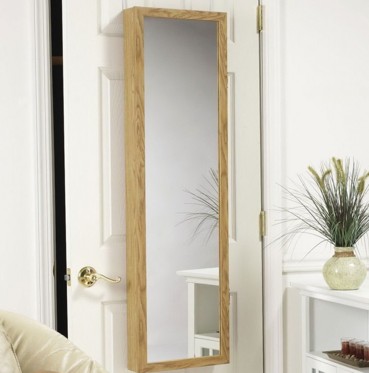 Permalink to Over The Door Jewelry Armoire With Mirrored Front