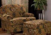 Overstuffed Chair And Ottoman Set