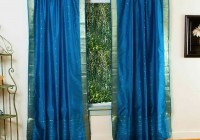Peacock Blue Sheer Curtains