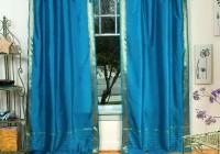 peacock blue sheer curtains