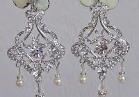 Pearl And Rhinestone Chandelier Earrings