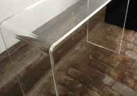Peekaboo Clear Console Table