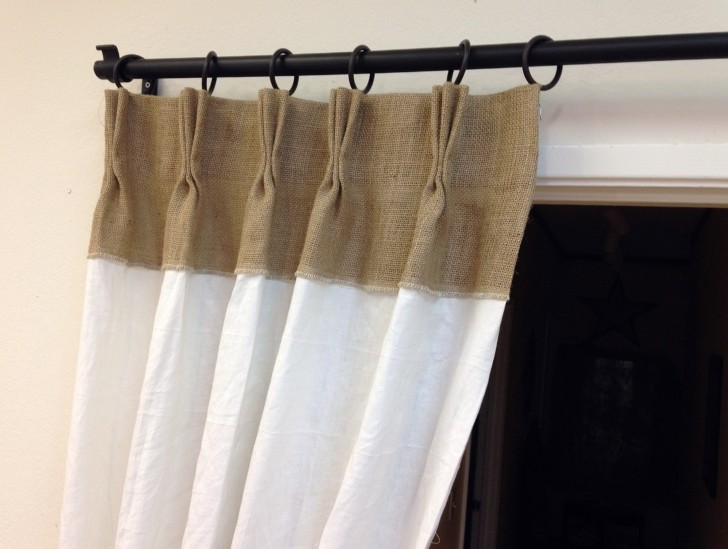 Permalink to Pinch Pleated Burlap Curtains