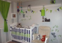Pink And Green Curtains Nursery