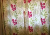 Pink And Grey Eyelet Curtains