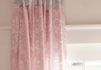 pink and white curtains for nursery
