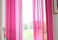 Pink Faux Silk Curtains