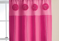 Pink Floral Window Curtains