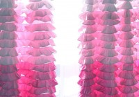 Pink Ruffle Curtain Panels