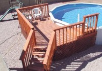 Pool Deck Steps Designs