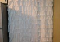 Pottery Barn Ruffle Shower Curtain