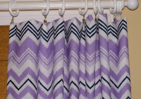 purple chevron window curtains