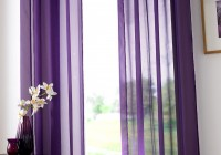 Purple Sheer Curtain Panels