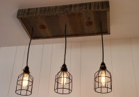 Reclaimed Wood And Metal Chandelier