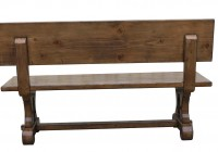 Reclaimed Wood Bench With Back