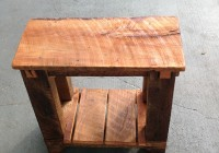 Reclaimed Wood Side Table Restoration Hardware