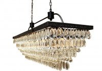 Rectangular Glass Drop Chandelier