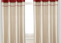 Red And Cream Curtains With Eyelets