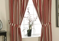 Red And Cream Striped Curtains