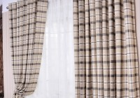 Red And Grey Tartan Curtains
