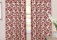 red and white blackout curtains