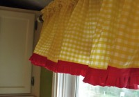 Red And Yellow Curtain Panels