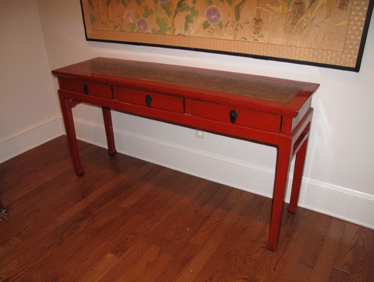 Permalink to Red Asian Console Table
