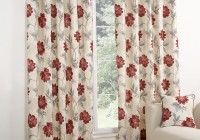 Red Cream And Black Curtains