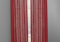 Red Curtains With Grommets
