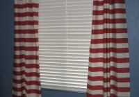 Red Horizontal Striped Curtains