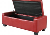 Red Leather Bench Seat