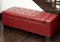Red Leather Ottoman Bed