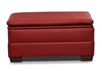 Red Leather Ottoman With Storage