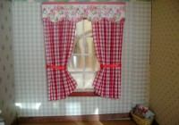 Red Plaid Kitchen Curtains