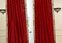 Red Ring Top Curtains